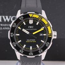 IWC Aquatimer Automatic 2000 Stal 44mm Czarny Bez cyfr