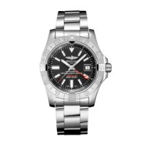Breitling Avenger II GMT Steel 43mm Black No numerals United States of America, Florida, Boca Raton