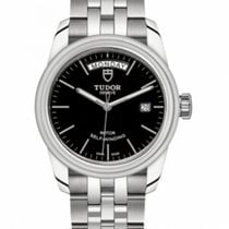Tudor Glamour Date-Day Steel 39mm Black No numerals