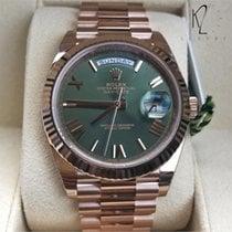 Rolex Day-Date 40 Roségold 40mm Grün Römisch Schweiz, Geneva