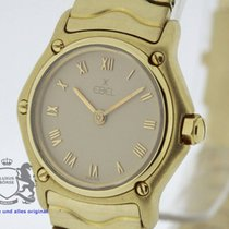 Ebel Wave 866901 solid 18K Gold Ladies Watch Box & Swiss...