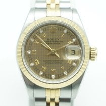 Rolex Lady Datejust 26 Two Tone Gold FACTORY  Diamond Dial...