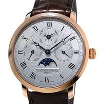 Frederique Constant Rose gold Automatic Silver 42mm new Manufacture Slimline Perpetual Calendar