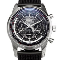 Breitling Transocean Chronograph Unitime pre-owned 46mm Black Chronograph Date GMT Rubber