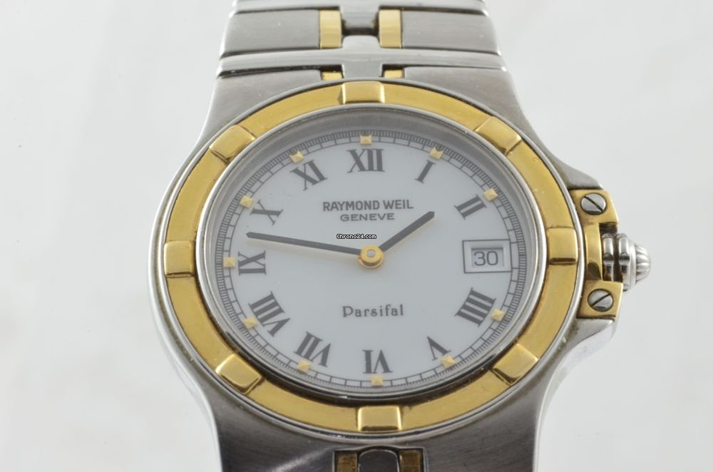 823e058aefd9c Raymond Weil Parsifal Herren Uhr 36mm Stahl gold Quartz 9590... for  447  for sale from a Trusted Seller on Chrono24