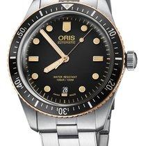Oris Steel Automatic Black new Divers Sixty Five