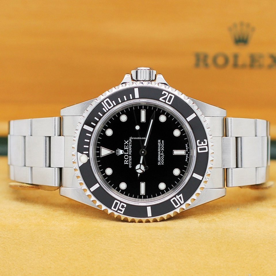 Rolex Submariner NO DATE Stahl Autom. Ref14060M von 2002