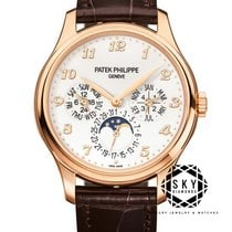 Patek Philippe Perpetual Calendar Rose gold 39mm Champagne Arabic numerals United States of America, New York, New York