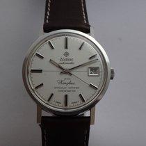 Zodiac Chronometer 33mm Automatik 1965 neu Silber
