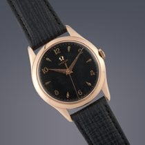 Omega 18ct rose gold manual wind watch Large Size