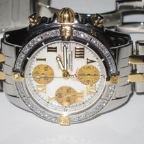 Breitling Chrono Cockpit Gold/Steel 39mm White Roman numerals United States of America, New York, Wantagh