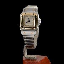 Cartier Santos Galbée Acero y oro 24mm Gris Romanos