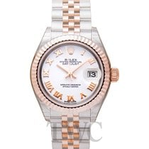 Rolex Lady-Datejust Rose gold 28.00mm White