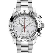 Davosa Speedline Chronograph Steel 42mm Silver No numerals