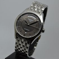 Tissot T-Classic pre-owned 38.5mm Grey Date Weekday Steel