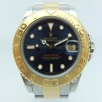 Rolex Yacht-Master Medium Blue Dial Steel Gold B+P