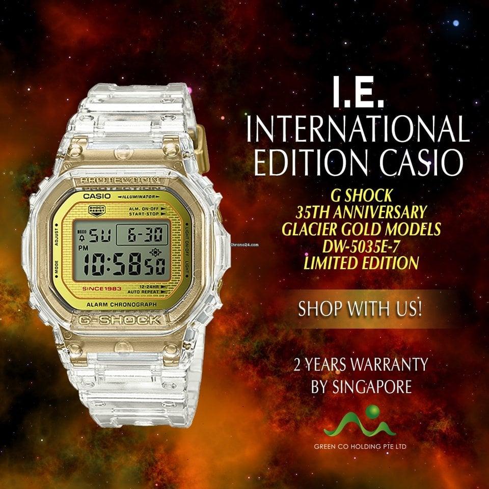 Casio International Edition G Shock Glacier Gold DW 5035E 7