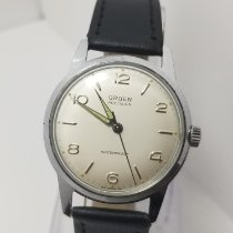 Gruen Steel 34mm Manual winding Precision pre-owned
