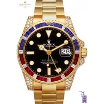 Rolex Yellow gold Automatic Black No numerals 40mm new GMT-Master II