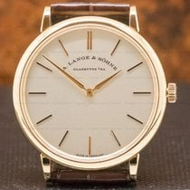 A. Lange & Söhne Rose gold 37mm pre-owned Saxonia