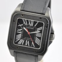 Cartier Santos 100 Steel 51mm Black Roman numerals United States of America, Ohio, Mason