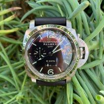 Panerai Luminor 1950 8 Days GMT Steel 44mm Black Arabic numerals United States of America, California, Los Angeles