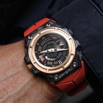 Linde Werdelin SpidoLite Tech Gold incl. extra Red Rubber Strap