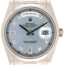 Rolex Men's Rolex President Day-Date Watch 118209 Glacier...