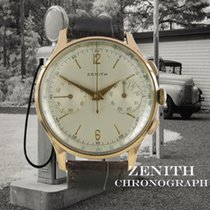 Zenith Rotgold Handaufzug Silber Keine Ziffern 37.5mm gebraucht