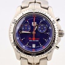 TAG Heuer Searacer Chronograph Royal Blue Dial Stainless...