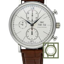 IWC Portofino Chronograph Automatic Silver plated white dial NEW