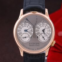 F.P.Journe Chronometre à Resonance Roségold 38mm Grau Arabisch