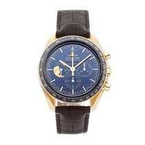 Omega Oro amarillo Cuerda manual Azul Sin cifras 42mm usados Speedmaster Professional Moonwatch