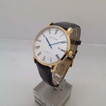 Louis Erard Excellence Yellow gold 40mm Silver Roman numerals