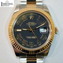 Rolex Datejust II Gold/Steel 41mm Black Roman numerals