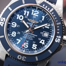 Breitling Men's Superocean II 44 Steel on Rubber Blue Face