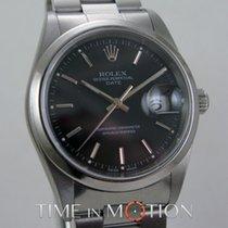Rolex Oyster Perpetual Date 15200 Noire Certif Rolex + Pochette
