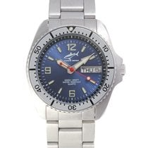 Chris Benz Steel 34mm Quartz CBM-B-SI-MB new