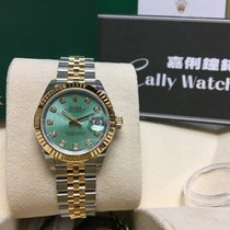 Rolex Cally - New 2017 28mm Datejust 279173G Green Diamond 綠鑽石