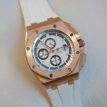 Audemars Piguet Royal Oak Offshore Chronograph pre-owned 44mm Silver Chronograph Date Rubber