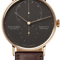 NOMOS Rose gold Manual winding Grey 39mm new Lambda