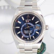 Rolex Acier Remontage automatique Bleu Sans chiffres 42mm nouveau Sky-Dweller