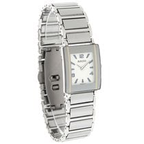 Rado Integral Ladies Platinum Ceramic Bracelet Swiss Watch...