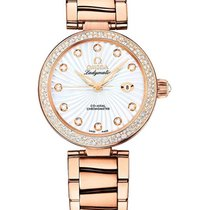 Omega 425.65.34.20.55.001 DeVille Ladymatic in Rose Gold with...
