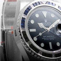 Rolex 18K White Gold GMT Master ll Factory Bezel - Box,Papers,...