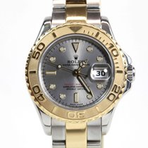 Rolex Yacht-Master Steel/Gold Silver Dial Box & Papers + Service