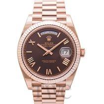 Rolex Day-Date 40 Oro rosa 40.00mm Marrón
