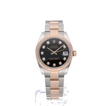 Rolex Lady-Datejust in diamond steel/pink gold 2016 with B + P