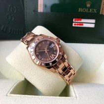 Rolex nuevo Automático Segundero central Cronómetro Corona atornillada Estado original/piezas originales 29mm Oro rosado Cristal de zafiro