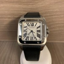 Cartier 33mm Remontage automatique occasion Santos 100 Blanc